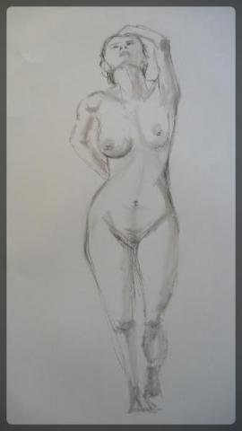 Charcoal figure drawing
